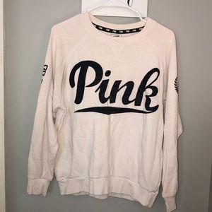 White and black PINK sweatshirt